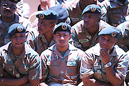 CAPE TOWN, SOUTH AFRICA - Tuesday 10 December 2013, the public and the armed forces watched the National Memorial service for Nelson Mandela at the FNB stadium in Johannesburg, on giant screens in front of the Cape Town City Hall and the Grand Parade.<br /> Photo by Roger Sedres/ImageSA