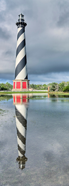 Cape Hatteras Lighthouse on Hatteras Island.