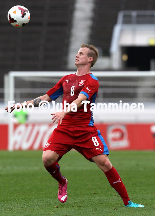 21.5.2014, Olympic Stadium, Helsinki, Finland.<br /> Friendly International match Finland v Czech Republic.<br /> David Limbersky - Czech Rep.