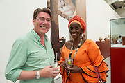 14/07/2013 Gary McMahon and Mary Ann Wangarry at the opening of the ABSOLUT Festival Gallery which is the visual art programme of the Galway Arts Festival . Picture:Andrew Downes