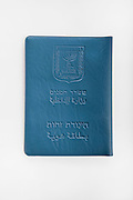 Cutout of an Israeli Identification card on white background