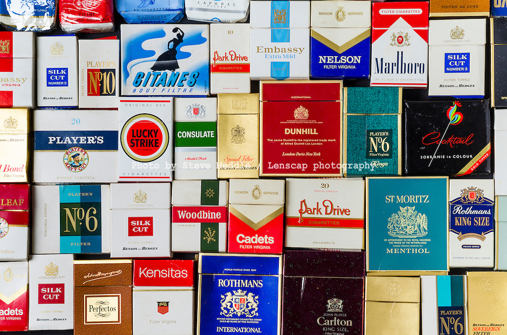 Packets of Various Old Cigarette Boxes - May 2016