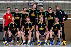 26-10-2017 NED: Teamfoto Prima Donna Kaas mannen, Huizen<br /> Lars Hogeveen #13 of PDK Huizen, Thom van Alphen #11 of PDK Huizen, Michiel Koster #1 of PDK Huizen, Julian van Dijk #10 of PDK Huizen, Michael Woud #9 of PDK Huizen, Jesse Zegeling #12 of PDK Huizen, Coach Albert Cristina of PDK Huizen, Kasper Lemminga #3 of PDK Huizen, Calvin Ooms #5 of PDK Huizen, Jeffrey Roest #7 of PDK Huizen, Erik ten Asbroek #6 of PDK Huizen