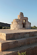 Lighthouse, erected by Emperor Nero in 64-65 AD, on the western edge of the now silted harbour of Patara, Antalya, Turkey. It consists of a square podium 20x20m and a tower rising from the middle. The podium walls were cut from the bedrock and filled with rubble to resist earthquakes. The tower was 26m high and consists of 2 nested cylindrical structures connected through a spiral staircase. The cylindrical exterior wall, 6m in diameter, was built as a double-hulled structure using concavo-convex stone blocks. The staircases were connected to each other so as to increase the static resistance of the tower. On top of the lighthouse was a dome on an octagonal base created by arches on piers. The tower is accessed through a wooden gate to the West. A monumental inscription, originally set in gold-plated bronze lettering, circled the lighthouse at the top of the tower so that it could be read from a distance, stating that Emperor Nero erected the lighthouse for the safety of sailors. This is believed to be the oldest lighthouse in the world. Patara was a maritime Greek and Roman city on the South West Mediterranean coast of Lycia near modern-day Gelemis. It was said to be founded by Patarus, son of Apollo, and was famous for its temple and oracle of Apollo. It was a leading city of the Lycian League. Picture by Manuel Cohen