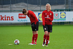 NEWPORT, WALES - Tuesday, April 3, 2018: Wales' Nadia Lawrence during a training session at Dragon Park ahead of the FIFA Women's World Cup 2019 Qualifying Round Group 1 match between England and Wales. (Pic by Rebecca Neaden/Propaganda)