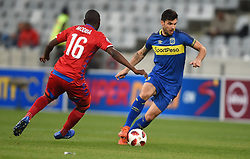 Cape Town-180804 Cape Town City midfielder Roland Putsche challenged by Aubrey Modiba of Supersport in the first game of the 2018/2019 season at Cape Town Stadium.photograph:Phando Jikelo/African News Agency/ANAr