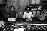 Chris Blackwell and Steve Stanley at Compass Point Studios Nassau Bahamas - 1979