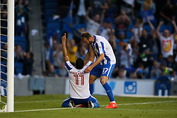 Goal, Niki Maenpaa of Brighton & Hove Albion scores, Brighton & Hove Albion 1-0 Nottingham Forest - Mandatory by-line: Jason Brown/JMP - 12/08/2016 - FOOTBALL - Amex Stadium - Brighton, England - Brighton & Hove Albion v Nottingham Forest - Sky Bet Championship