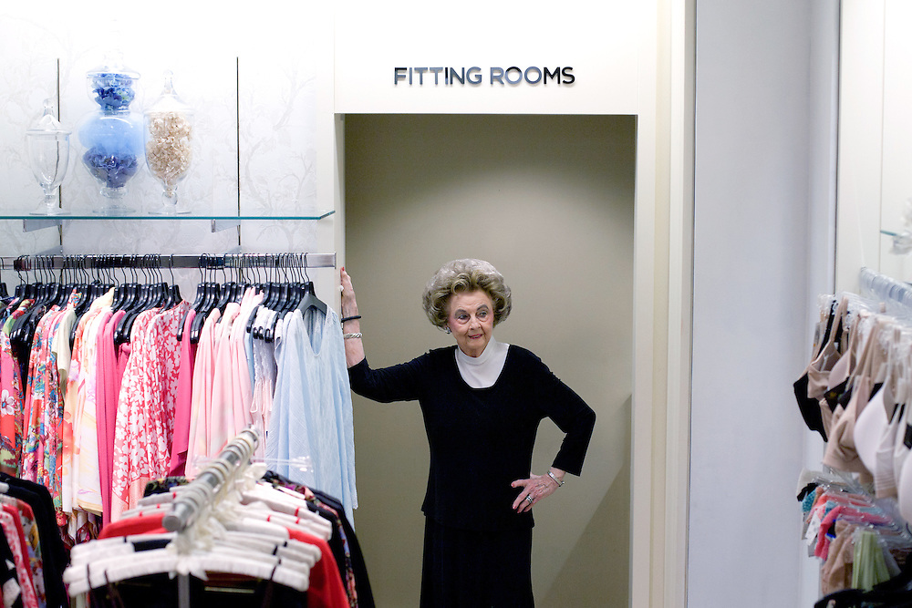 Earlene Moore, a 90-year-old bra fitter at Saks Fifth Avenue, got into the business in 1939 when the downtown stretch of Congress Avenue was full of department stores.  <br />