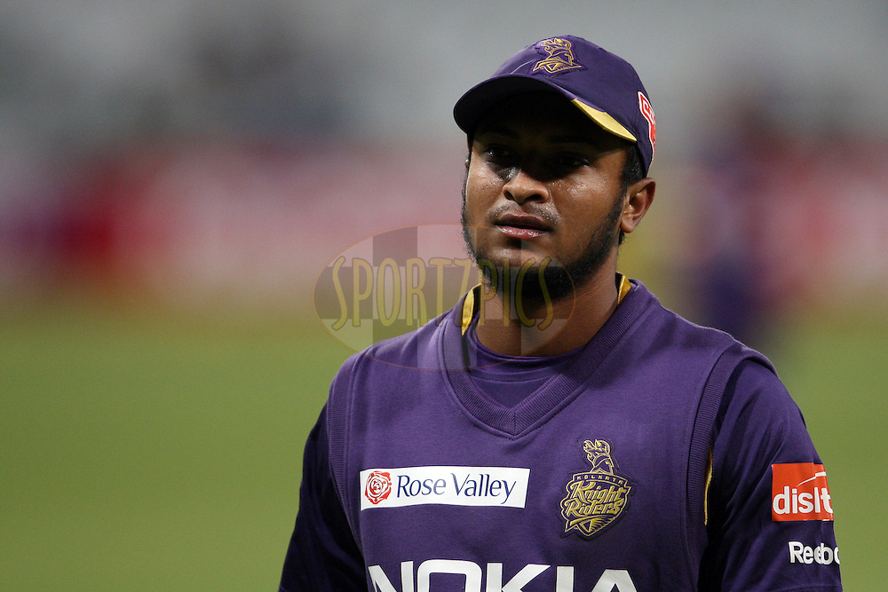 Shakib Al Hassan during match 5 of the Karbonn Smart CLT20 South Africa between Kolkata Knight Riders and Auckland Aces held at Sahara Park Newlands, South Africa on the 15th October 2012. Photo by Jacques Rossouw/SPORTZPICS/CLT20