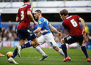 Queens Park Rangers forward Conor Washington has the ball on the edge of the box during the Sky Bet Championship match between Queens Park Rangers and Ipswich Town at the Loftus Road Stadium, London, England on 6 February 2016. Photo by Andy Walter.