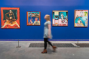 Hathayyogi 1978 (l) and others  - Bhupen Khakhar: You Can't Please All at Tate Modern. It is the first international retrospective of the Indian artist since his death. He was known for his vibrant, bold works that examine class and sexuality. The Exhibition runs from 1 June – 6 November 2016.