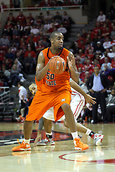 16 December 2012:  Ian Chiles gives Jackie Carmichael the slip during an NCAA men's basketball game between the Morgan State Bears and the Illinois State Redbirds (Missouri Valley Conference) in Redbird Arena, Normal IL