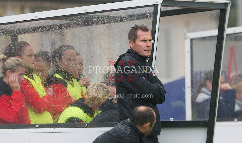 NEWPORT, WALES - Saturday, September 17, 2011: Wales' manager Jarmo Matikainen during the UEFA European Women's Championship 2011-13 Group 4 Qualifying match against Republic of Ireland at the Newport Stadium. (Pic by David Rawcliffe/Propaganda)