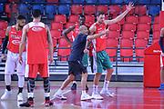 Ettore Messina, Filippo Baldi rossi<br /> Nazionale Italiana Maschile Senior<br /> Eurobasket 2017<br /> Allenamento<br /> FIP 2017<br /> Telaviv, 30/08/2017<br /> Foto Ciamillo - Castoria/ M.Longo
