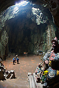 Marble Mountains. Thuy Son (Water Mountain). Huyen Khong Cave. Mandarin guard.