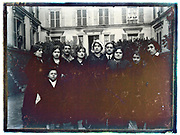 maids and servants group portrait France 1900s