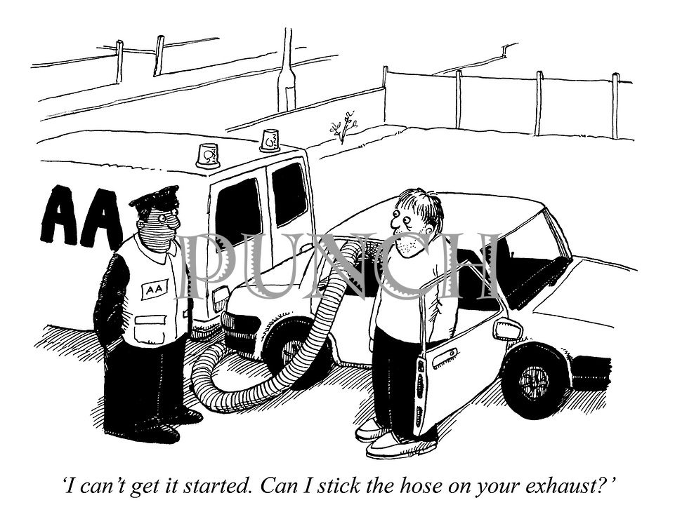 'I can't get it started. Can I stick the hose on your exhaust?'