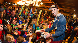02.04.2015, Festsaal, Schwarzach, AUT, Empfang Stefan Kraft, im Bild Stefan Kraft (AUT) beim Autogramme schreiben // during the Welcome Home Party of Austria Skijumper Stefan Kraft at the Ballroom, Schwarzach, Austria on 2015/04/02. EXPA Pictures © 2015, PhotoCredit: EXPA/ JFK