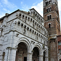 Duomo di San Martino and Bell Tower in Lucca, Italy<br />