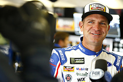 April 7, 2018 - Ft. Worth, Texas, United States of America - April 07, 2018 - Ft. Worth, Texas, USA: Clint Bowyer (14) hangs out in the garage during practice for the O'Reilly Auto Parts 500 at Texas Motor Speedway in Ft. Worth, Texas. (Credit Image: © Chris Owens Asp Inc/ASP via ZUMA Wire)