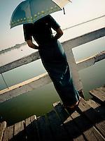 U Bien Bridge, Mandalay, Burma, 2008.