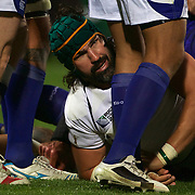 Victor Matfield, South Africa, during the South Africa V Samoa, Pool D match during the IRB Rugby World Cup tournament. North Harbour Stadium, Auckland, New Zealand, 30th September 2011. Photo Tim Clayton...