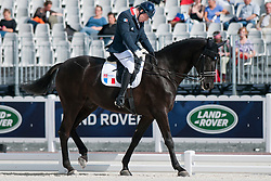 Thibault Stoclin riding Lou Heart in the Grade 1a Individual Test Para-Dressage at the 2014 World Equestrian Games, Normandy, France