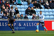 Coventry City Striker Jacob Murphy during the Sky Bet League 1 match between Coventry City and Bury at the Ricoh Arena, Coventry, England on 13 February 2016. Photo by Chris Wynne.
