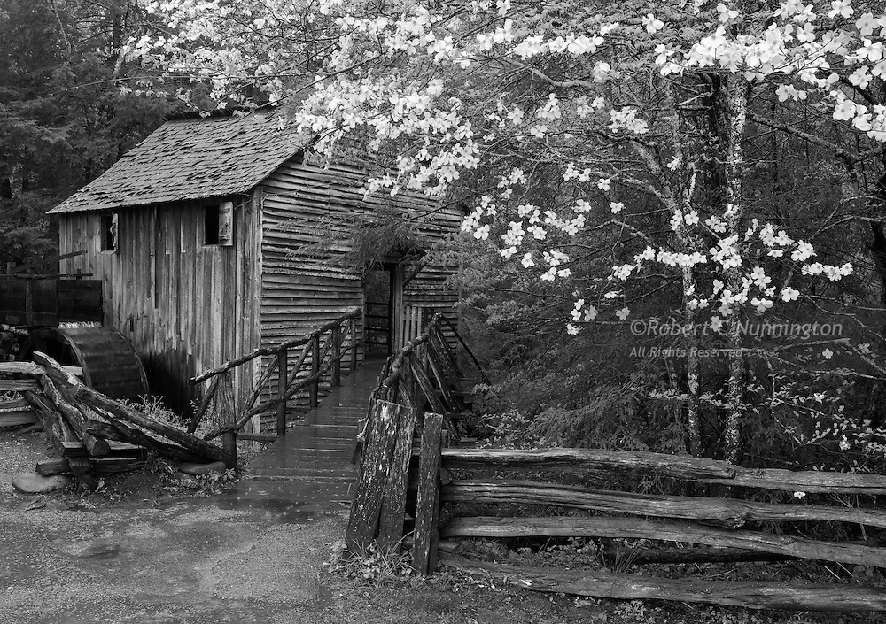 The John Cable Grist Mill was constructed in 1868. and is still used today to demonstrate a by-gone technology. The mill could grind corn and other grains, and even power a saw-mill.