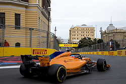 April 29, 2018 - Baku, Azerbaijan - Motorsports: World Championship; 2018; Grand Prix Azerbaijan, Grand Prix of Europe, Formula 1 2018 Azerbaijan Grand Prix, .#14 Fernando Alonso (ESP, McLaren-Renault) (Credit Image: © Hoch Zwei via ZUMA Wire)