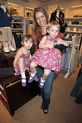 ELEN RIVES and her daughters ISLA LAMPARD and LUNA LAMPARD at 'Paint Your Polo Celebration' a children's party in aid of the charity Clic Sargent held at Ralph Lauren, 139/141 Fulham Road, London on 28th April 2009.