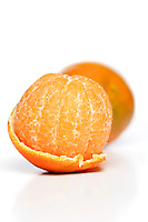 Mandarins on white background - studio shot