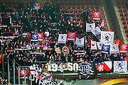 ALKMAAR - 16-02-2017, AZ - Olympique Lyon, AFAS Stadion, 1-4, uitvak met supporters, sfeer