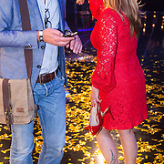 NLD/Hilversum/20130706 - Finale X-Factor 2013, jurylid Angela Groothuizen heeft haar schoenen uitgedaan