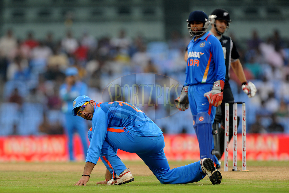 Yuvraj Singh of India during the 5th ODI ( One Day International ) between India and New Zealand held at the MA Chidambaram Stadium in Chennai, Tamil Nadu, India on the 10th December 2010.Photo by Pal Pillai/BCCI/SPORTZPICS