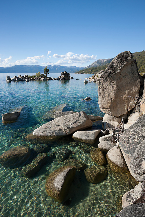 """Boulders at Lake Tahoe 34"" - These boulders were photographed along the shore at Whale Beach, Lake Tahoe."