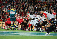 RUGBY UNION - SUPER 15 GRAND FINAL - Action from the Super 15 Rugby Grand Final at Suncorp Stadium between the Queensland Reds v Canterbury Crusaders - Conditions of Use - this image is intended for editorial use only. This image can not be copied, scanned, leased or further licensed. Any further use of this image requires additional clearance from the Manager Sports Media Publishing.  Photo - Jerad Williams - Staff SMP Images / APN National.