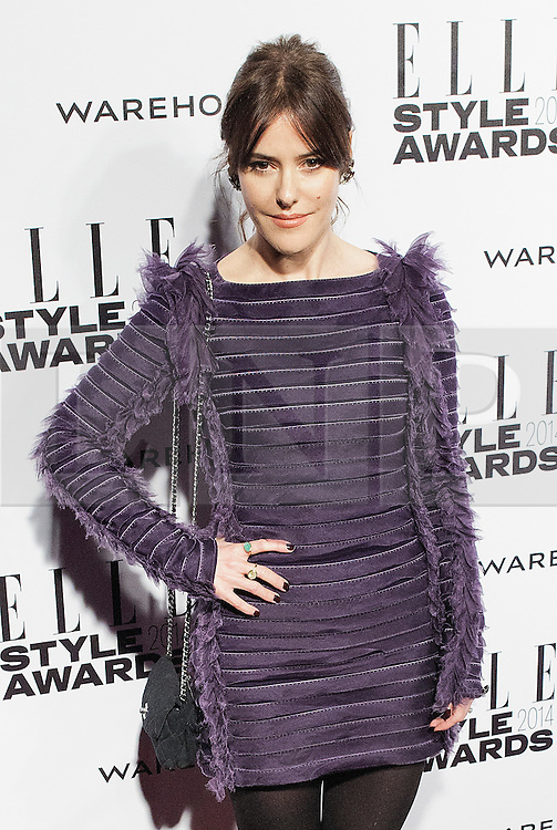© Licensed to London News Pictures. 18/02/2014. London, UK. xxx arrives on the red carpet for the Elle Style Awards on the Embankment in central London. Photo credit : Andrea Baldo/LNP