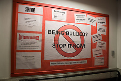 Being Bullied? stop it now! Poster on school notice board,