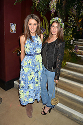 Left to right, ROSANNA FALCONER and ROWAN LEWIS at a preview of Mayfair's first Flower Show at Sketch, 9 Conduit Street, London on 18th May 2016.