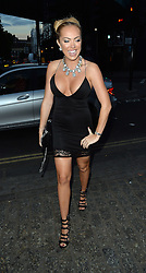 Maria Fowler celebrates her birthday with friends Aisleyne Horgan-Wallace and Nicola McLean at the Gilgamesh restaurant in Camden. London. UK. 15/08/2015<br />