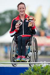 MCFADDEN Tatyana, USA, 5000m, T54, Podium, 2013 IPC Athletics World Championships, Lyon, France