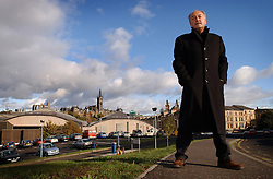 George Galloway, leaving the Glasgow Kelvin Constituency.