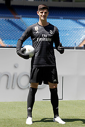 Belgian Thibaut Courtois attends his presentation as Real Madrid's goalkeeper at Santiago Bernabeu stadium in Madrid, Spain, 09 August 2018. Photo by Acero/Alterphotos/ABACAPRESS.COM