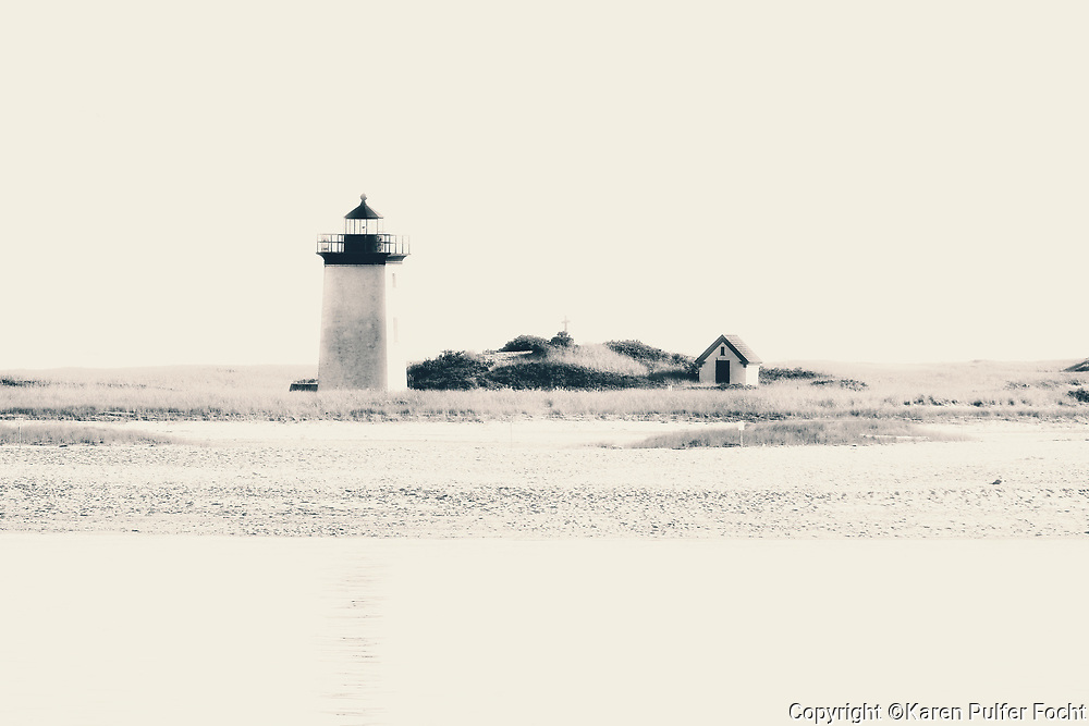 A lighthouse near Provincetown, Mass. Sights and scenes from Cape Cod Bay, in Cape Cod, Massachusetts.