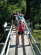 Students begin their backpacking journey on their Wisconsin Basecamp trip in 2012.  Wisconsin Basecamp is an outdoor experience open to incoming University of Wisconsin-Madison freshman students.