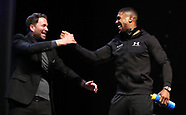 Anthony Joshua & Joseph Parker Weigh In - 30 March 2018