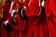 Rome jan 28th 2016, ceremony for judicial year opening. In the picture judges with the traditional red gown