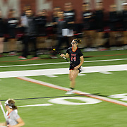 23 March 2018: San Diego State Aztecs midfielder Jill Haight runs the ball down the field in the second half. The Aztecs beat the Lady Flames 11-10 Friday night. <br /> More game action at sdsuaztecphotos.com